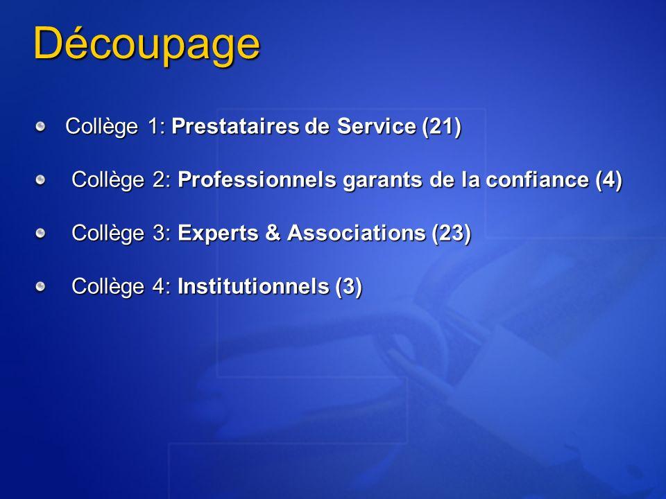 Découpage Collège 1: Prestataires de Service (21)