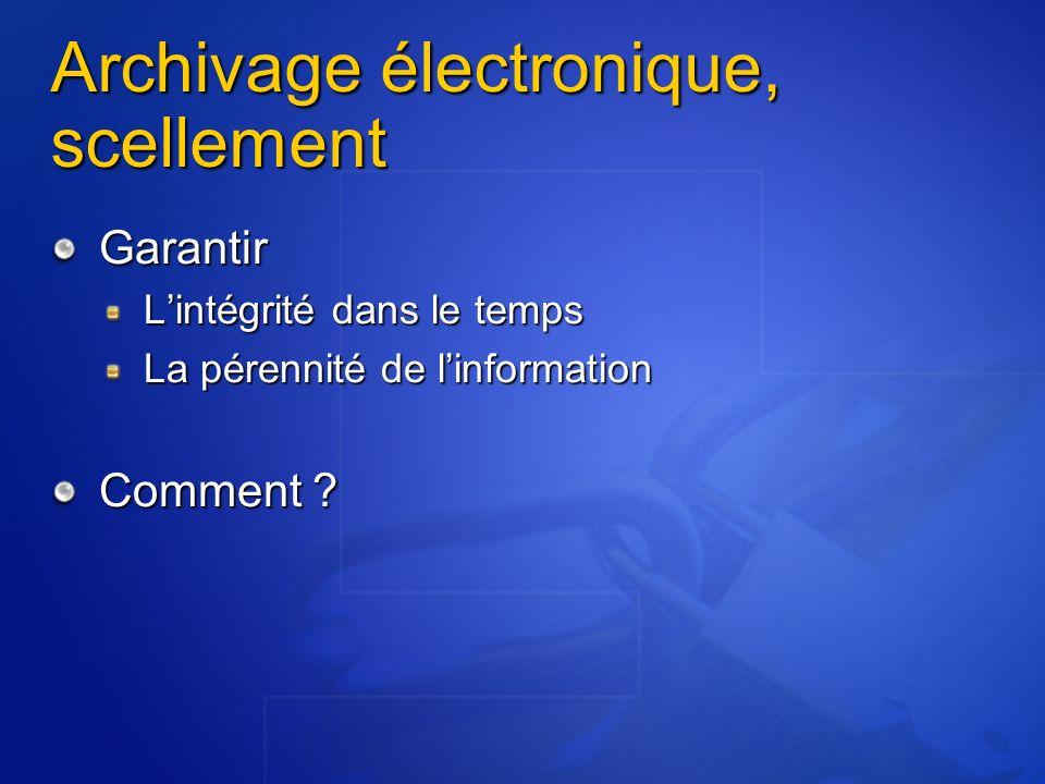 Archivage électronique, scellement