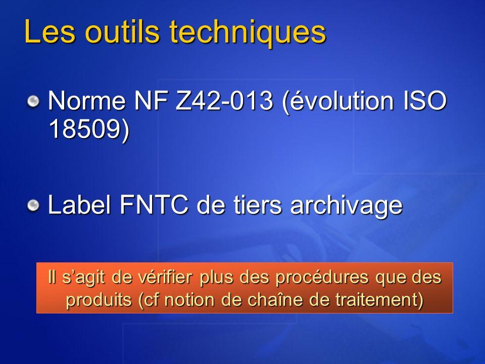 Les outils techniques Norme NF Z42-013 (évolution ISO 18509)
