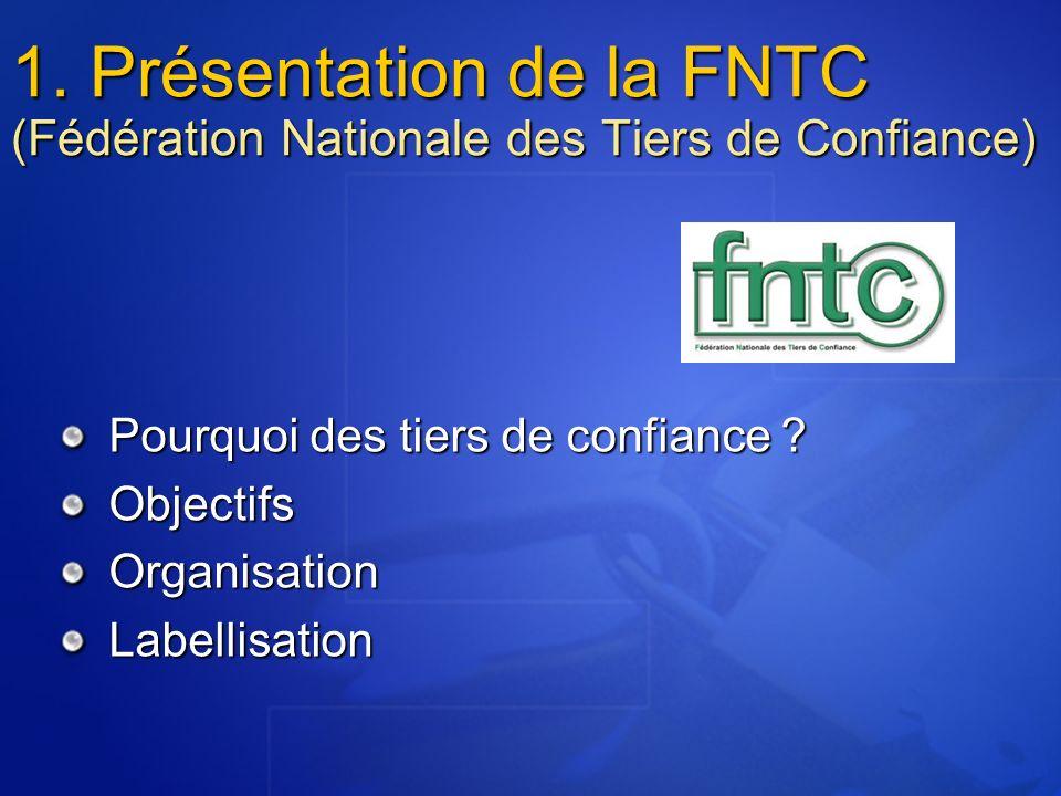 1. Présentation de la FNTC (Fédération Nationale des Tiers de Confiance)