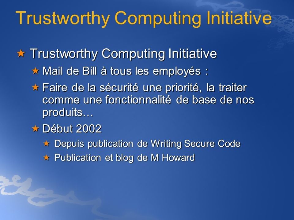 Trustworthy Computing Initiative