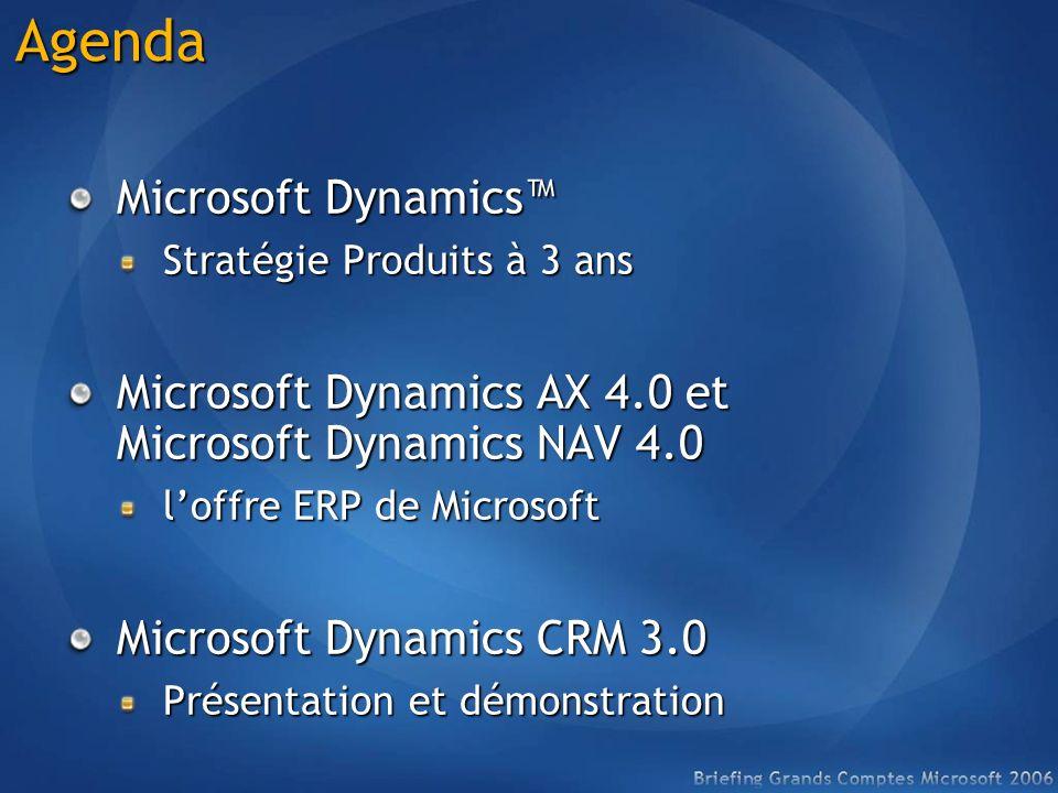 Agenda Microsoft Dynamics™