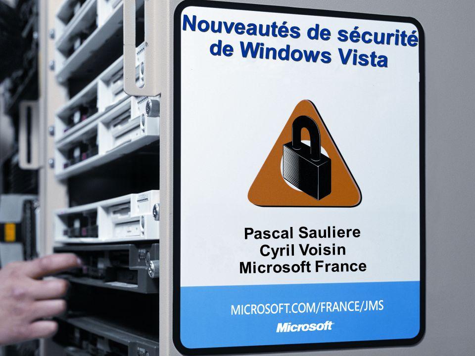 Nouveautés de sécurité de Windows Vista