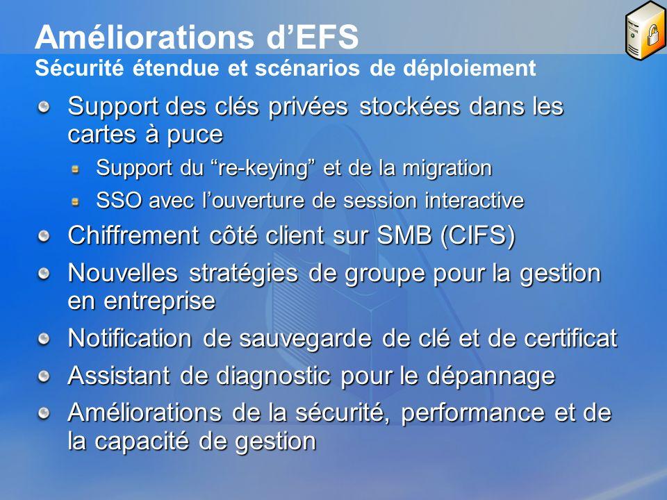 Améliorations d'EFS Sécurité étendue et scénarios de déploiement