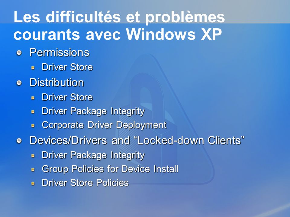 Les difficultés et problèmes courants avec Windows XP