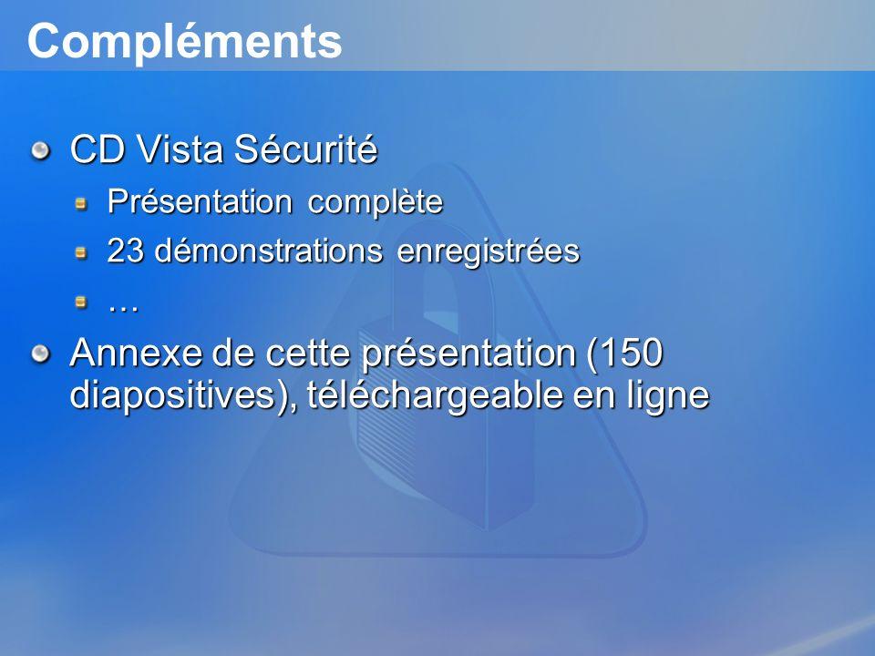 Compléments CD Vista Sécurité