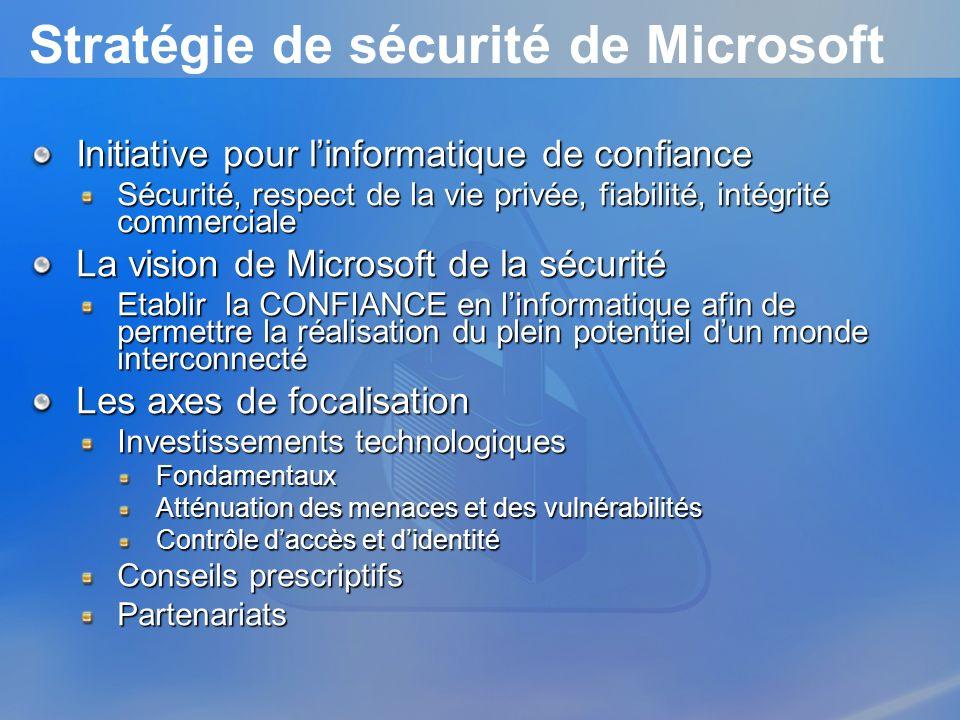 Stratégie de sécurité de Microsoft
