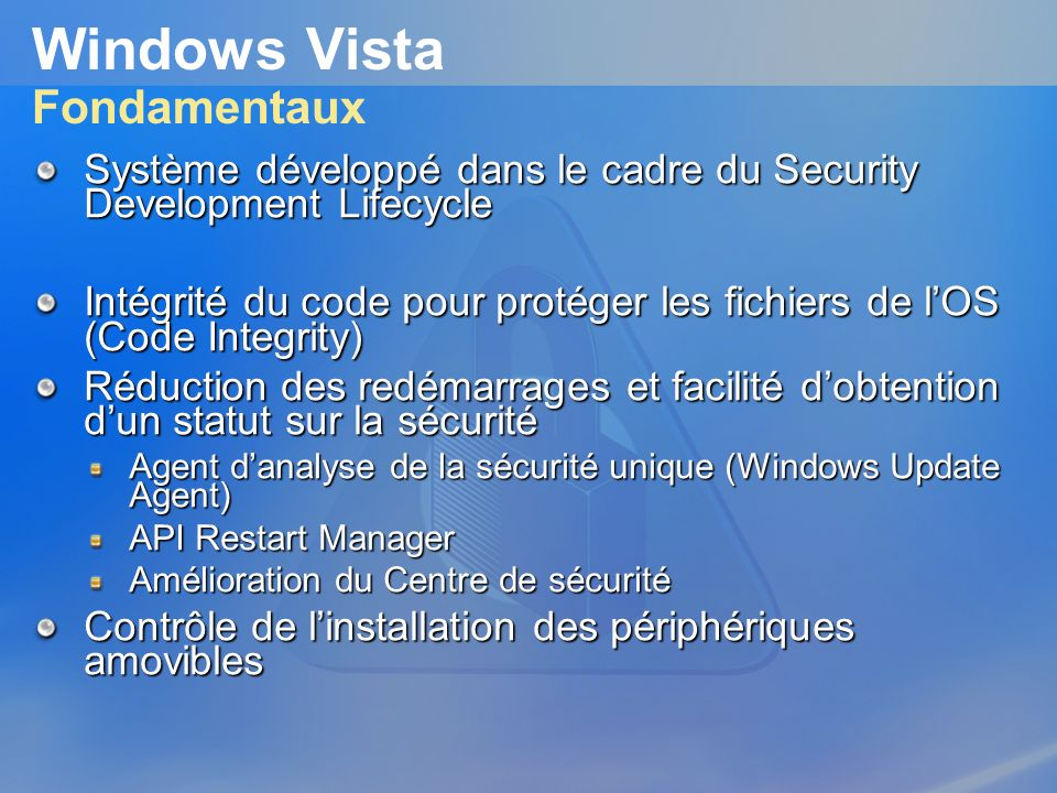 Windows Vista Fondamentaux