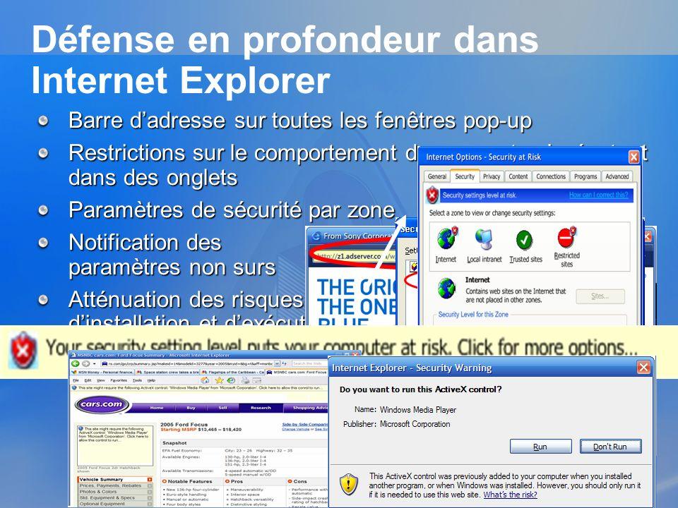 Défense en profondeur dans Internet Explorer
