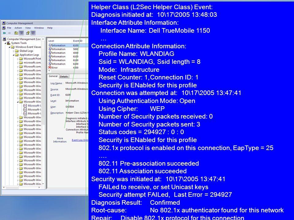 Helper Class (L2Sec Helper Class) Event: