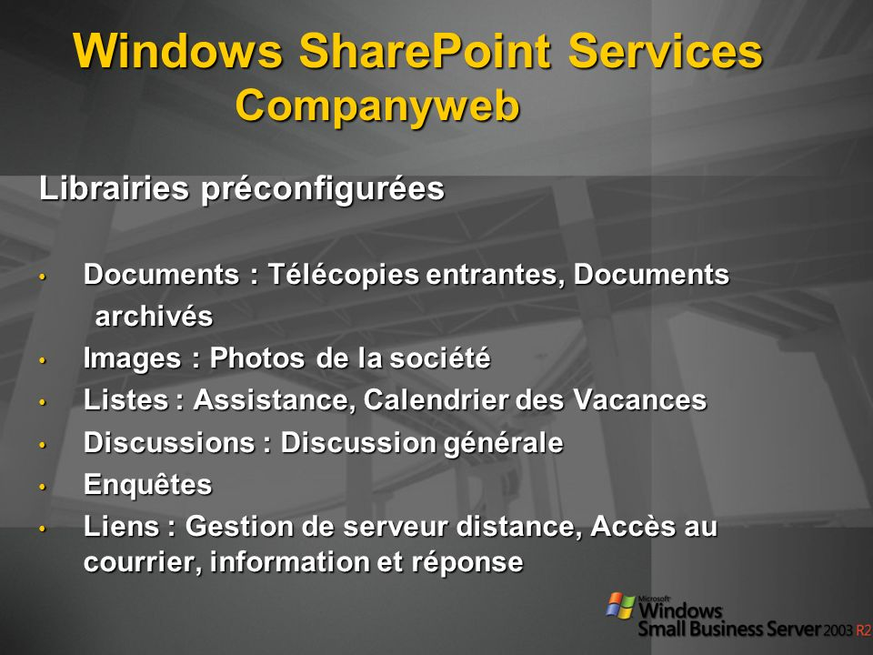 Windows SharePoint Services Companyweb