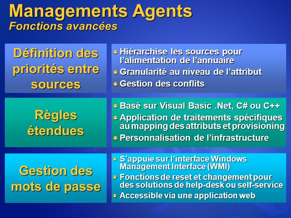 Managements Agents Fonctions avancées