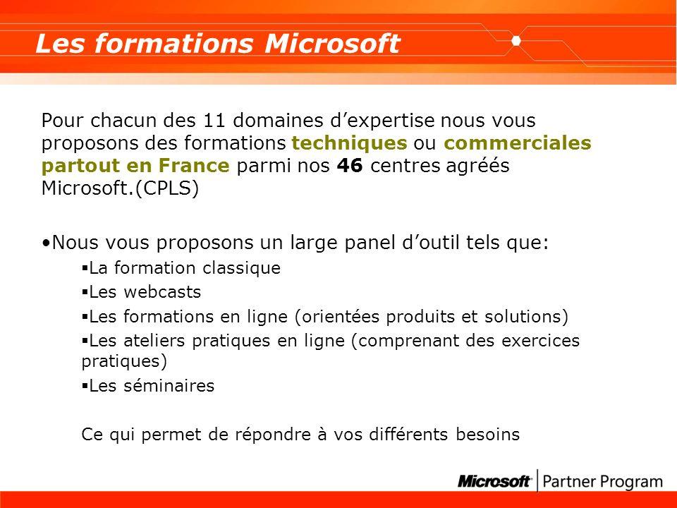 Les formations Microsoft