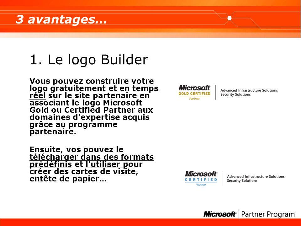 1. Le logo Builder 3 avantages…
