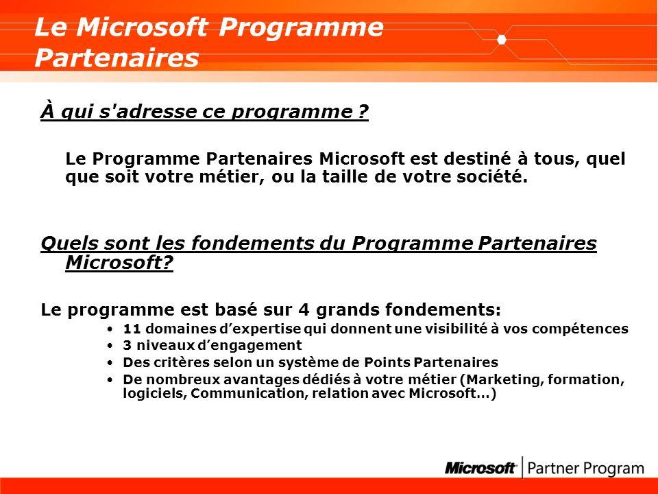 Le Microsoft Programme Partenaires