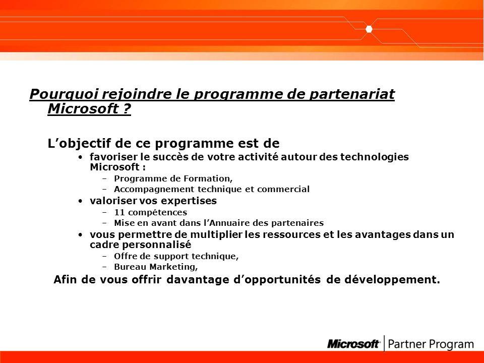 Pourquoi rejoindre le programme de partenariat Microsoft