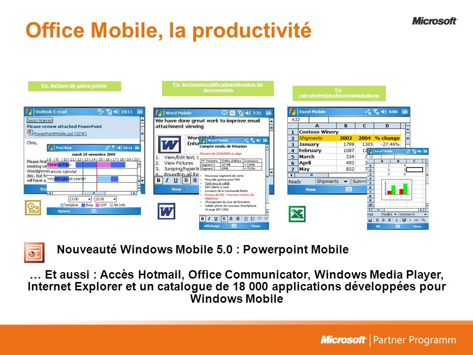 Office Mobile, la productivité