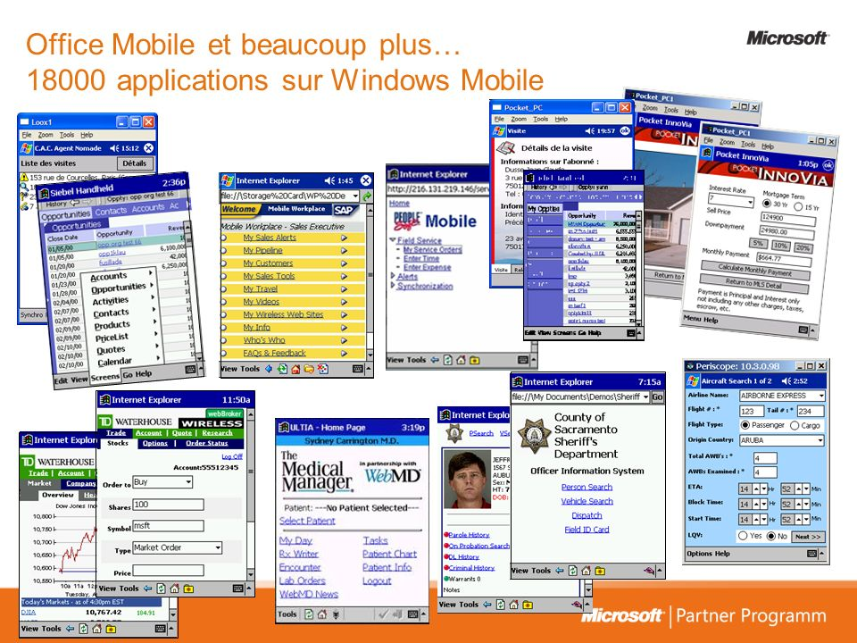 Office Mobile et beaucoup plus… 18000 applications sur Windows Mobile