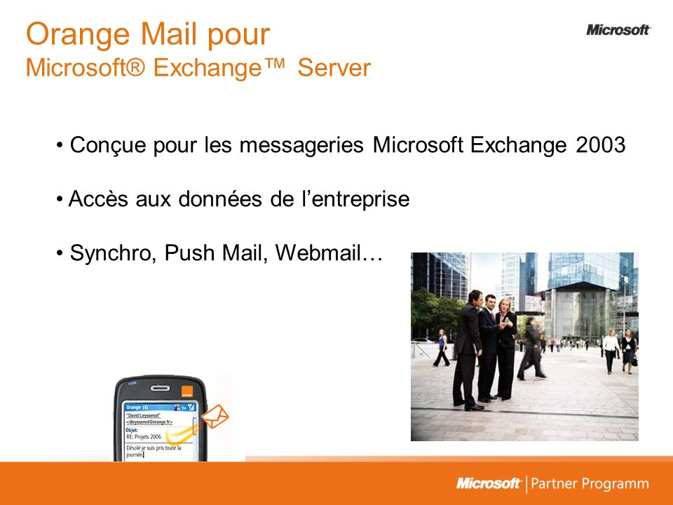 Orange Mail pour Microsoft® Exchange™ Server