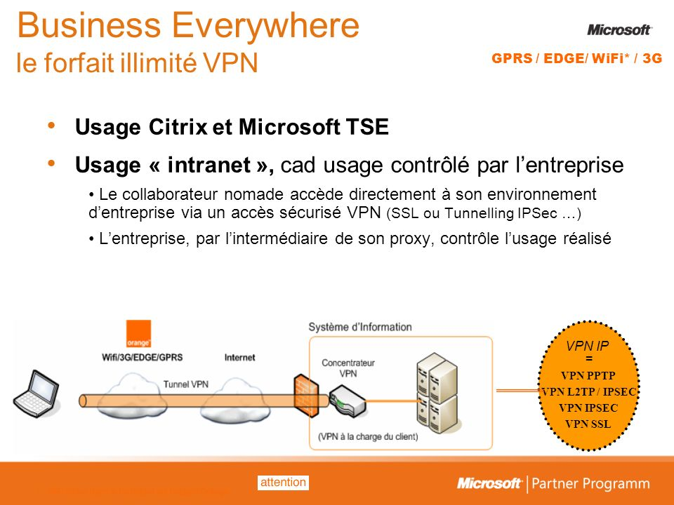Business Everywhere le forfait illimité VPN