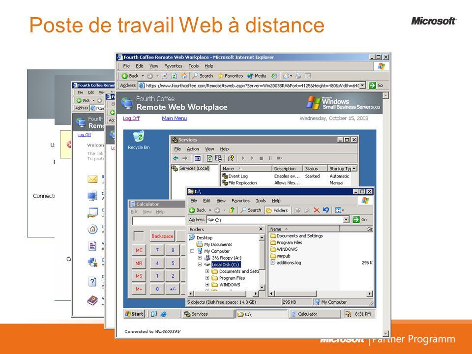 Poste de travail Web à distance