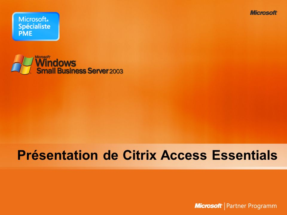 Présentation de Citrix Access Essentials