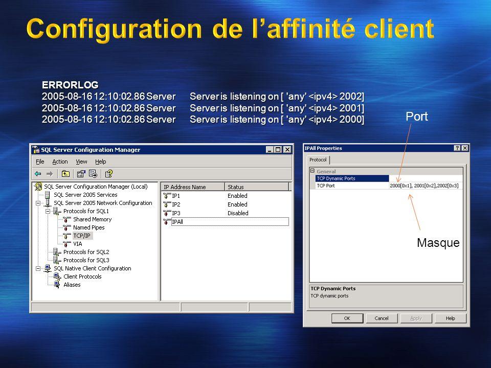 Configuration de l'affinité client