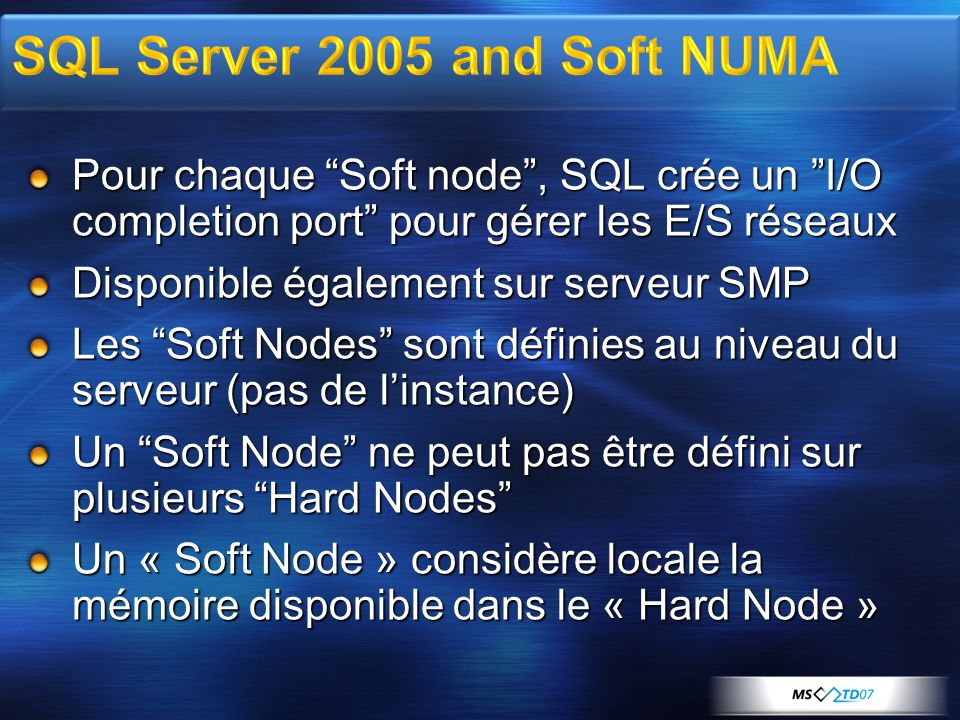 SQL Server 2005 and Soft NUMA