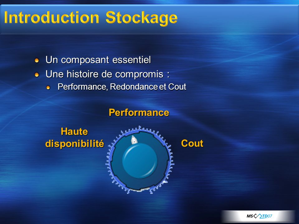 Introduction Stockage