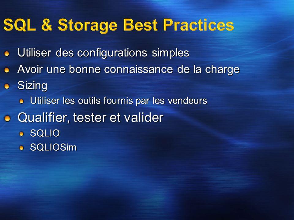 SQL & Storage Best Practices