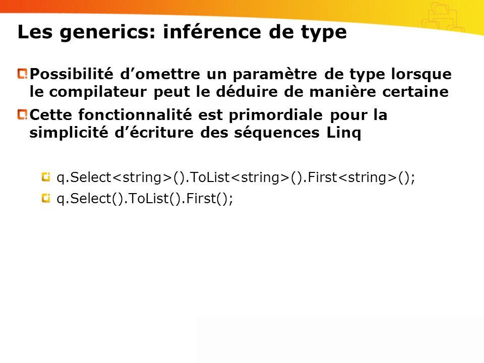 Les generics: inférence de type