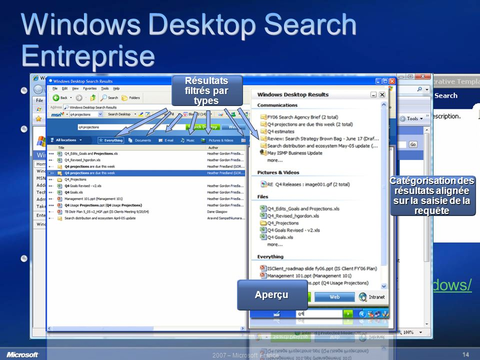 Windows Desktop Search Entreprise