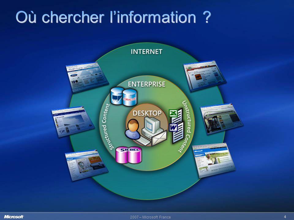 Où chercher l'information