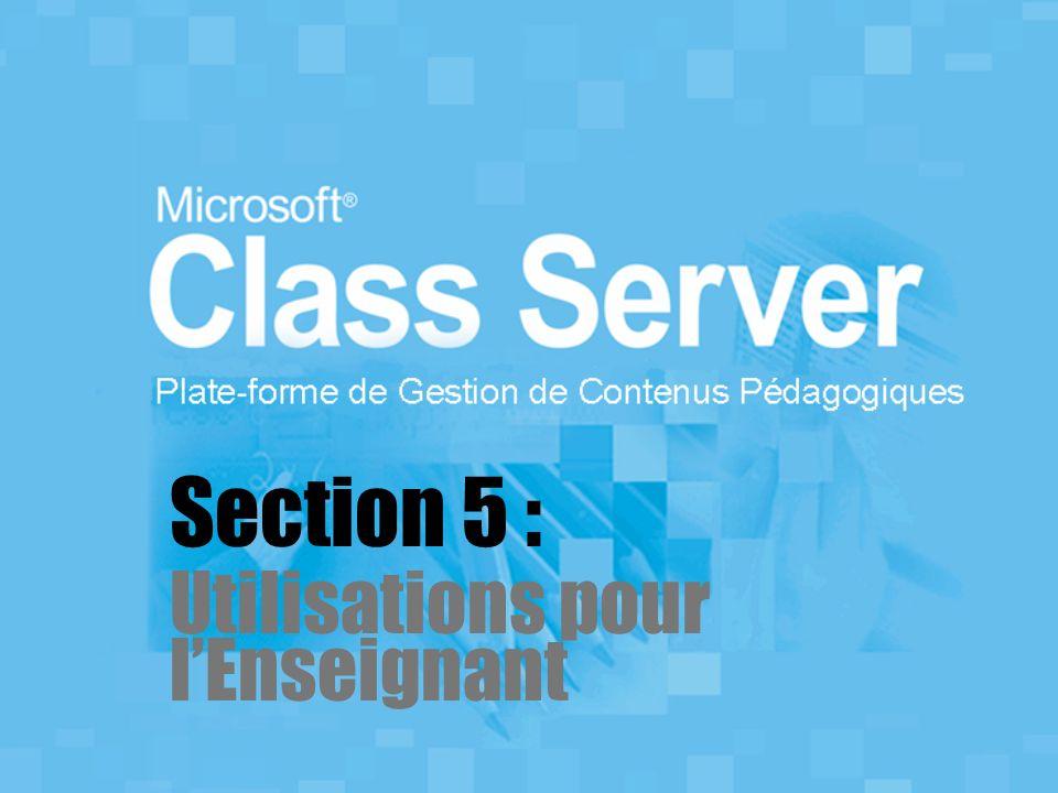 Section 5 : Utilisations pour l'Enseignant