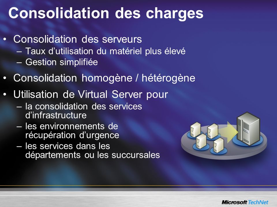 Consolidation des charges