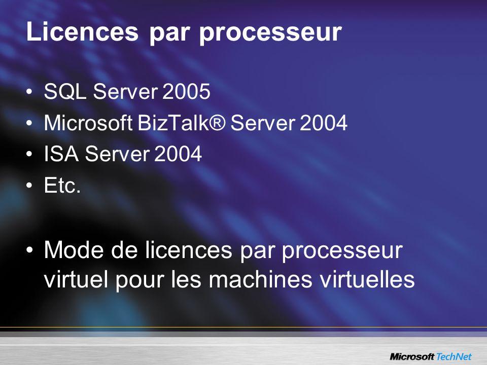 Licences par processeur