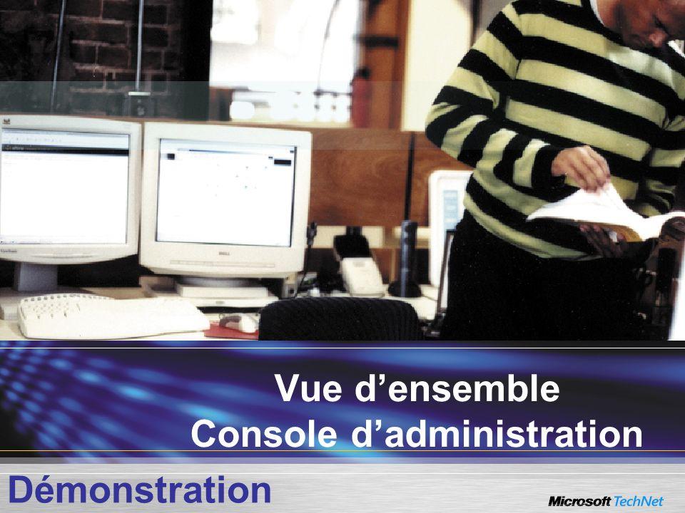 Vue d'ensemble Console d'administration
