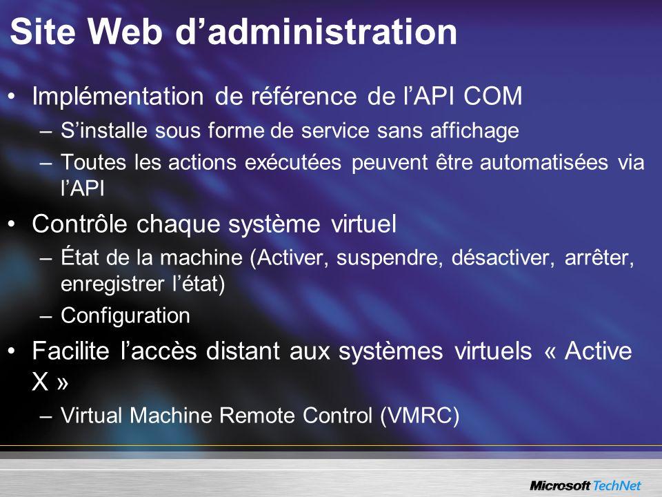 Site Web d'administration