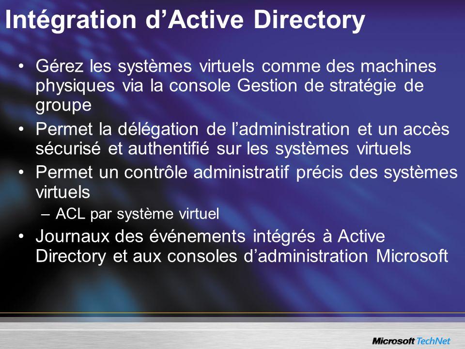 Intégration d'Active Directory