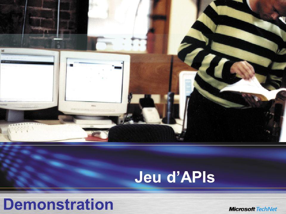 Jeu d'APIs Demonstration