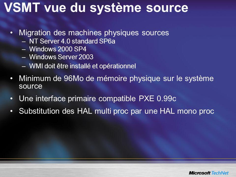 VSMT vue du système source