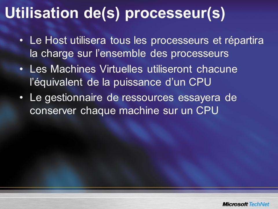 Utilisation de(s) processeur(s)