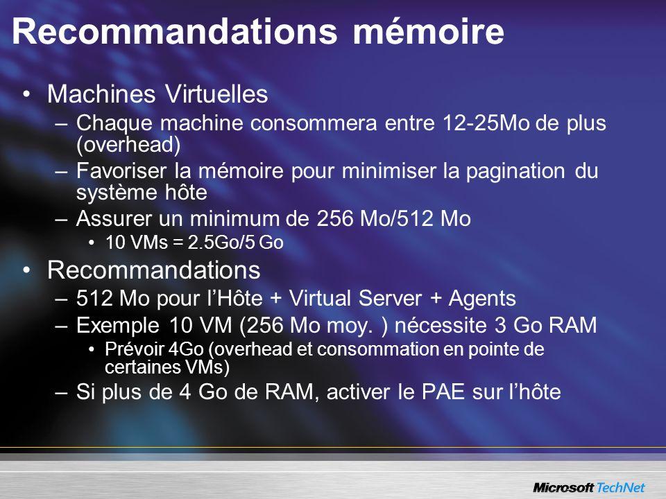 Recommandations mémoire