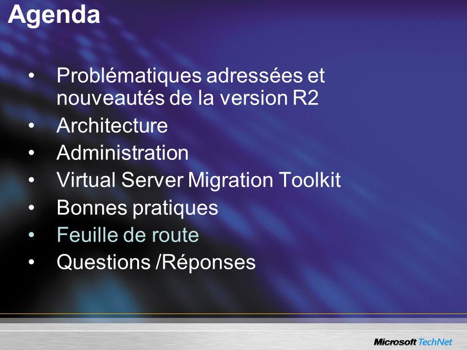 Agenda Problématiques adressées et nouveautés de la version R2