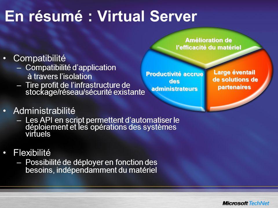 En résumé : Virtual Server