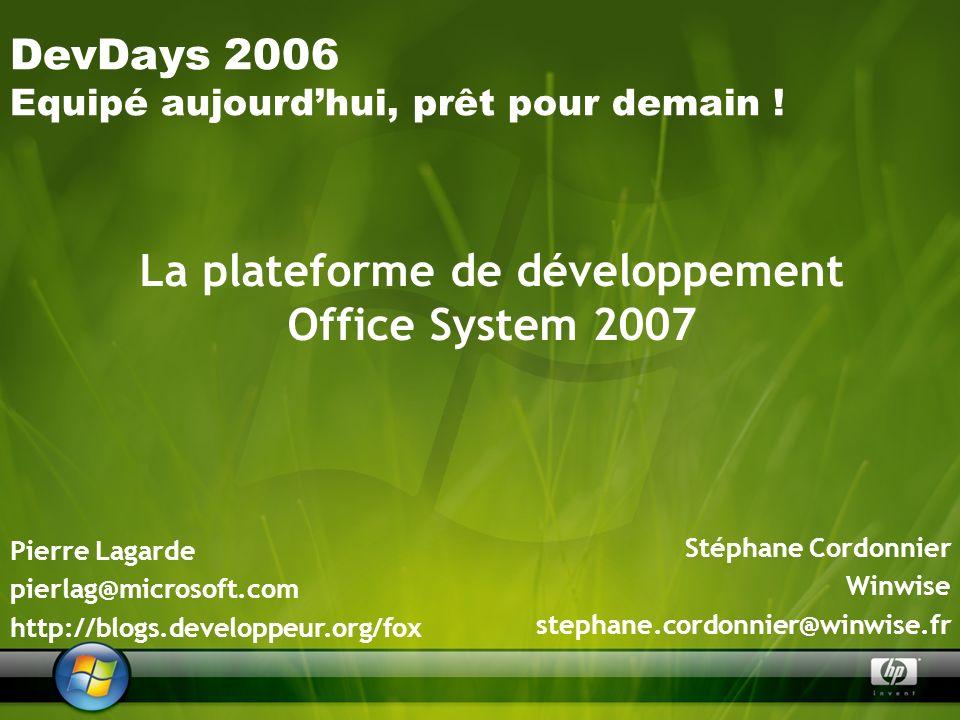 La plateforme de développement Office System 2007