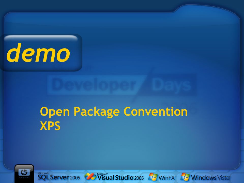 Open Package Convention XPS