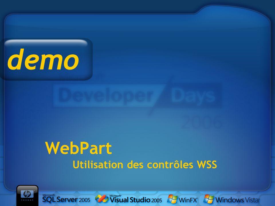 WebPart Utilisation des contrôles WSS