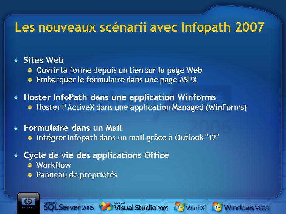 Les nouveaux scénarii avec Infopath 2007