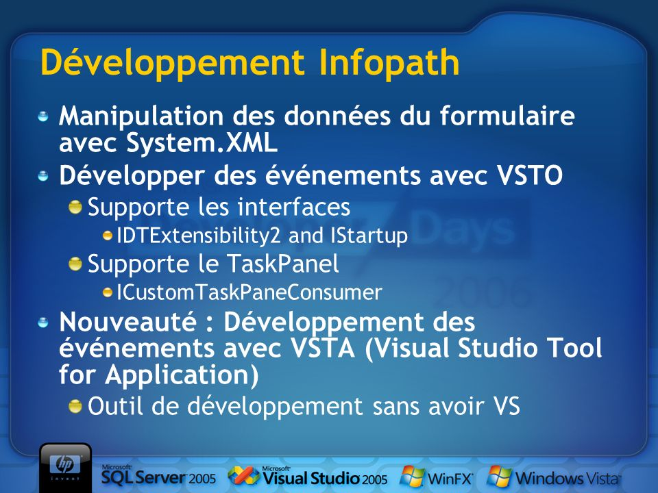 Développement Infopath